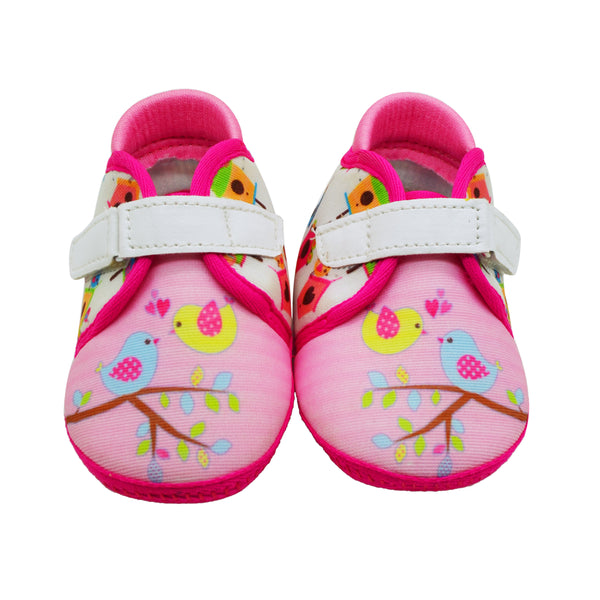 BYE BYE BIRDIE TOOTSIES - KazarMax Anti-Skid Breathable Soft Comfortable Pink White New Born Baby Girl Shoes/Booties