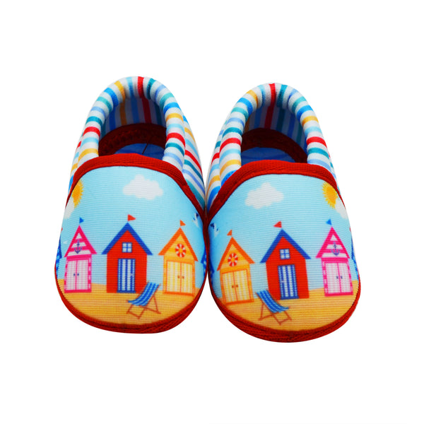 AT THE BEACH TOOTSIES - KazarMax Anti-Skid Breathable Soft Comfortable Blue New Born Baby Girl & Boy Mocassin Shoes/Booties