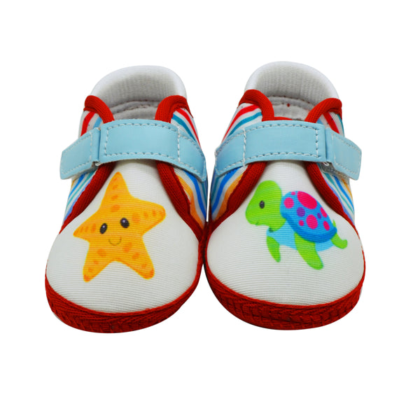 STARFISH TOOTSIES - KazarMax Anti-Skid Breathable Soft Comfortable Blue Red New Born Baby Boy & Girl Shoes/Booties