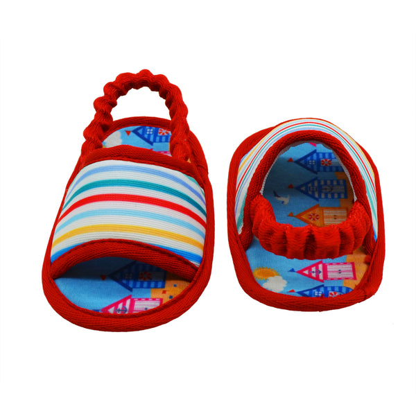 BEACH SLINGBACK TOOTSIES - KazarMax Anti-Skid Breathable Soft Comfortable Blue Red New Born Boy & Girl Baby Sandal Booties
