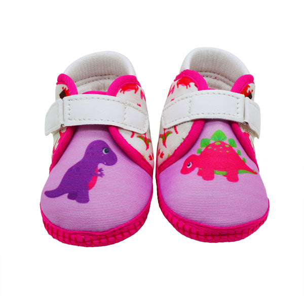 BIBI N BARNEY TOOTSIES - KazarMax Anti-Skid Breathable Soft Comfortable Pink Purple New Born Baby Girl Shoes/Booties