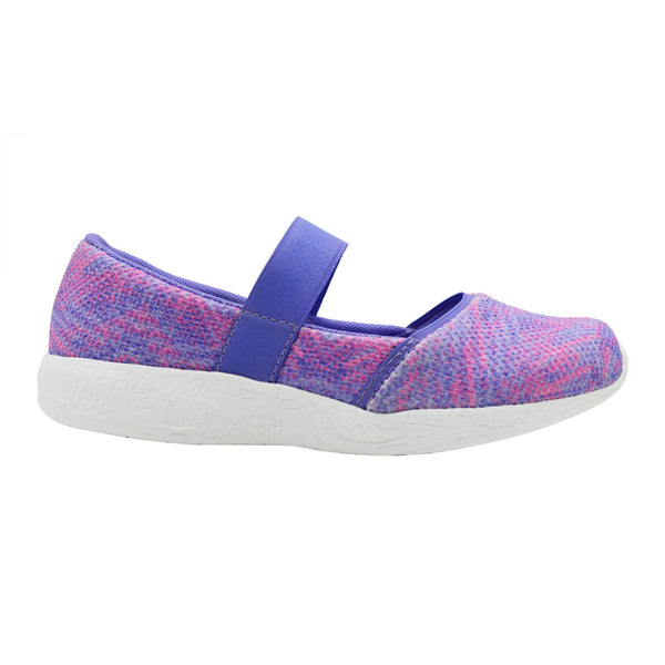 COTTON CANDY - KazarMax Girl's Memory Foam Purple Pink Printed Ballerina/Bellies/Slipon Shoes
