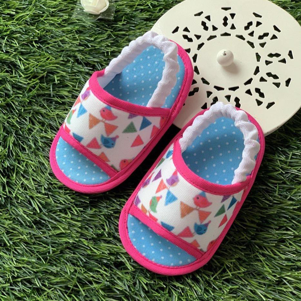 CELEBRATIONS TOOTSIES - KazarMax Anti-Skid Breathable Soft Comfortable Pink Blue New Girl Baby Sandal Booties