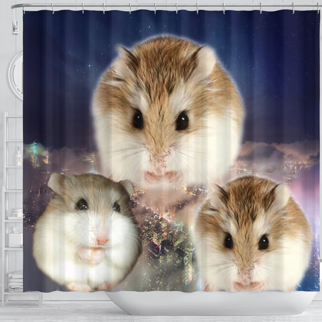 Details about Roborovski Hamster Print Shower Curtains-Free Shipping