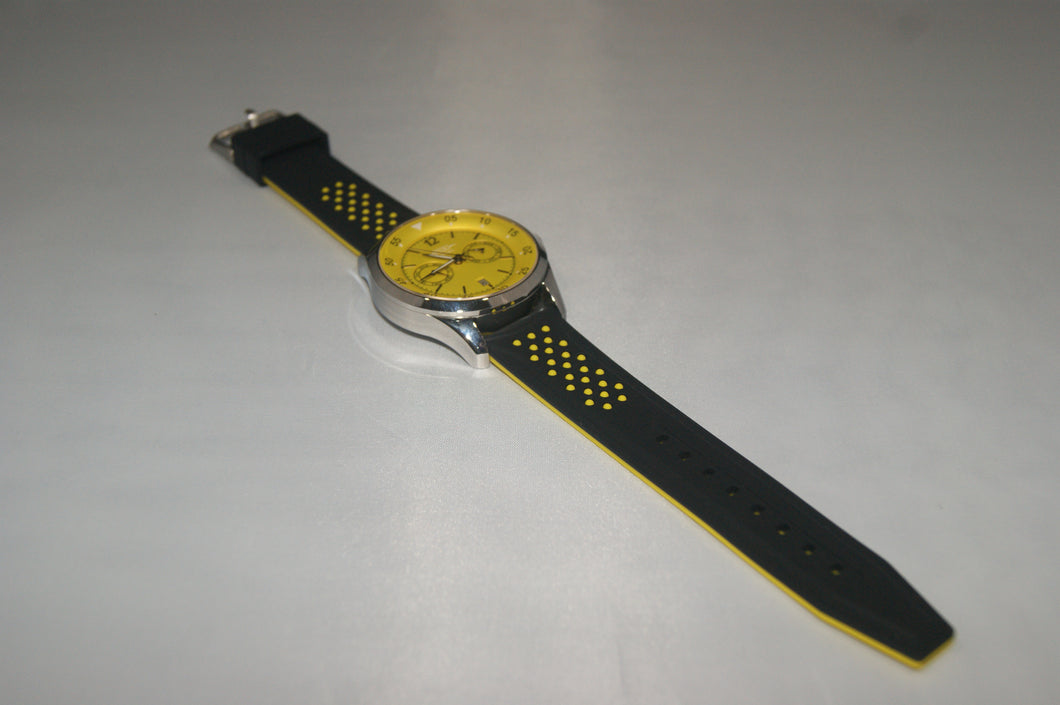 Black and Yellow Premium Silicone Strap