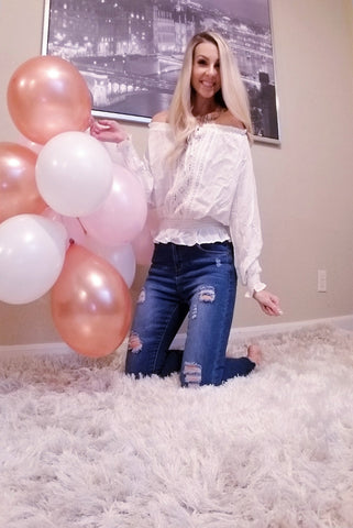 Genevieve Off The Shoulder Blouse White