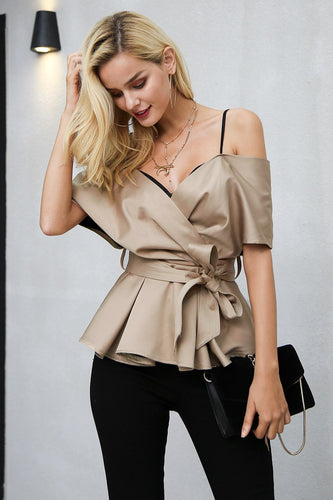 Satin Backless Blouse - Couture Couldn't