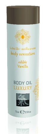 Shiatsu Luxury Body Oil Edible Vanilla