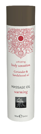 Shiatsu Massage Oil Warming Coriander And Sandalwood Oil 100ml