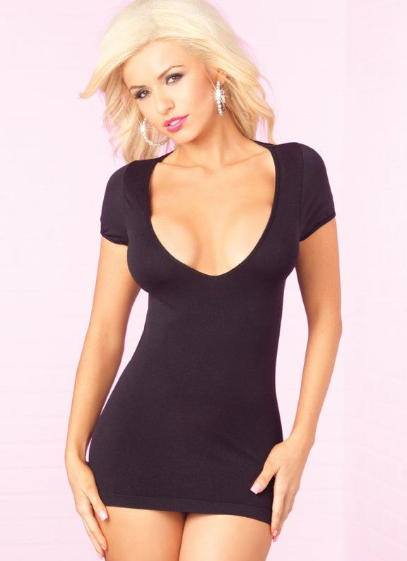Party In The Back Mini Dress - Black