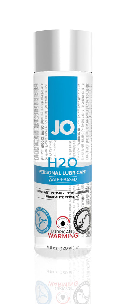 JO H2O Warming Lubricant 4 Oz / 120 ml