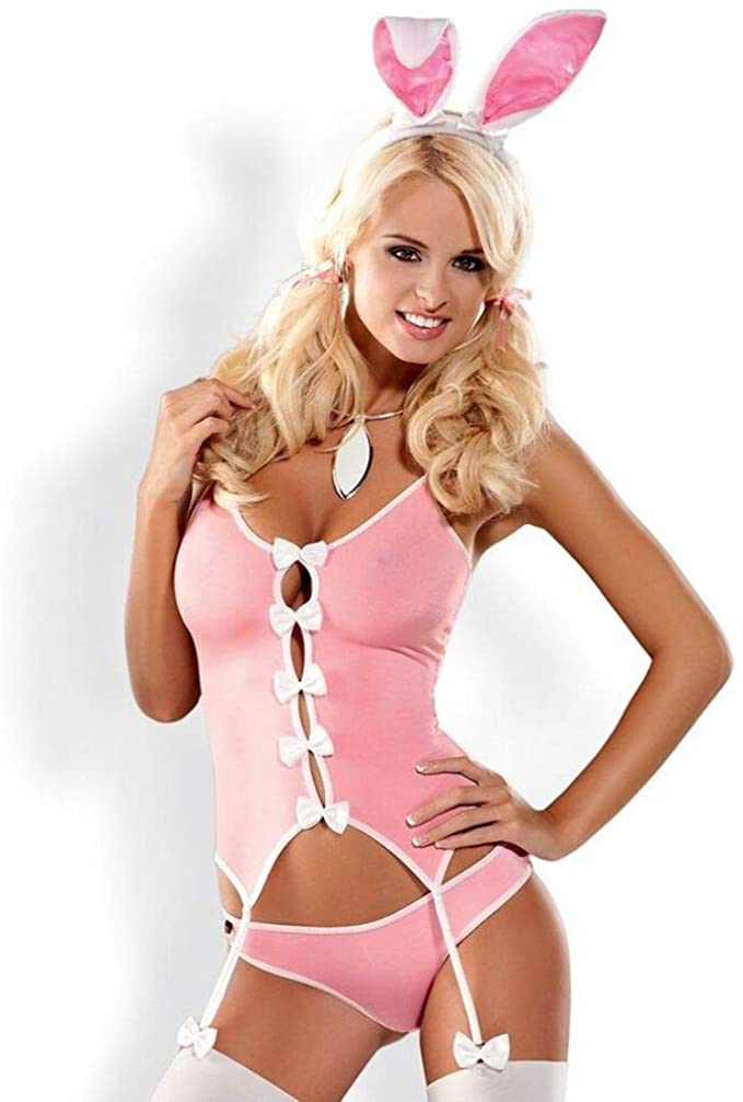 Naughty Bunny Suit - Pink