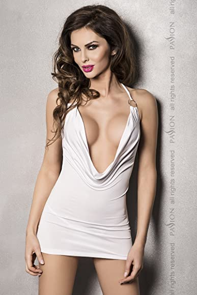 Mini Dress Draped Front Miracle - White