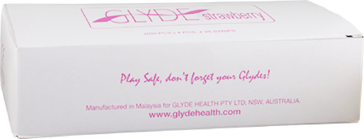 Glyde Condom - Strawberry/Pink 53mm Bulk 100's