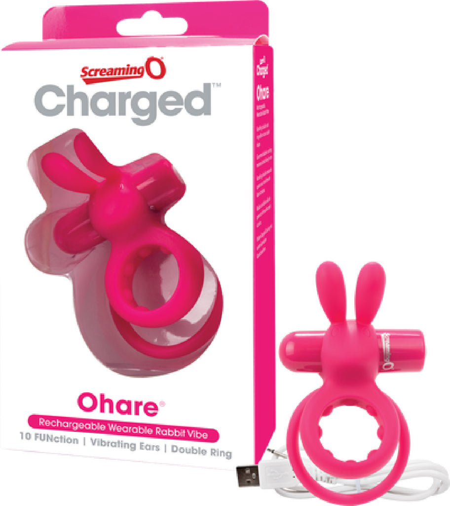 Ohare Rabbit Double Vibrating Cock Ring (Pink)