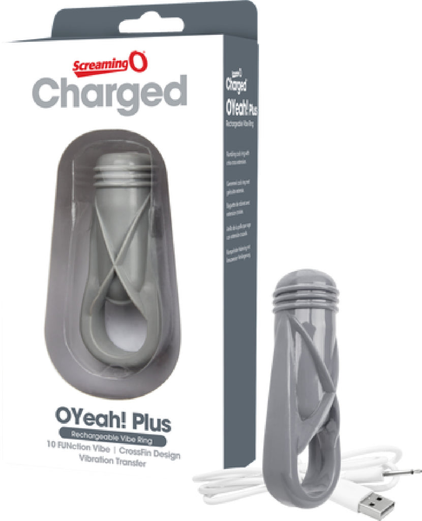 Charged - O Yeah! Plus Vibrating Ring - Grey