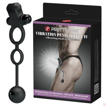 Vibrating Penis Sleeve IV Black