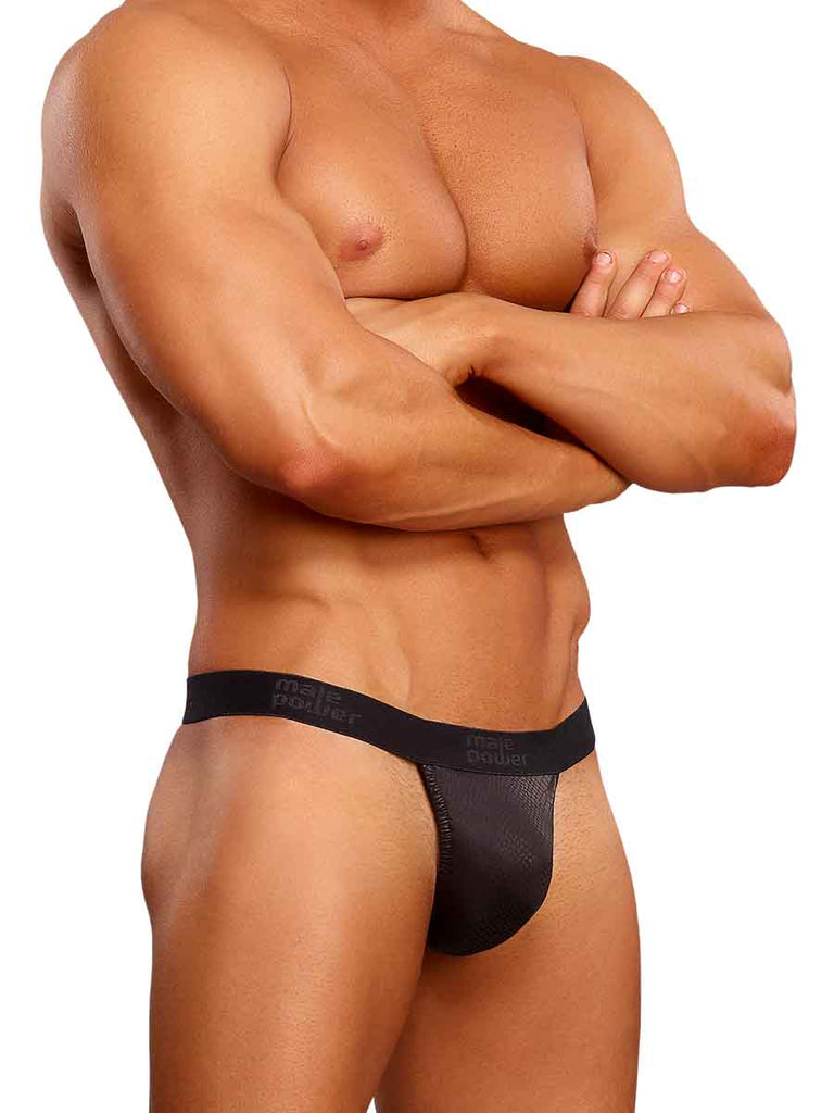 Male Power Black Cobra Micro G-String - L/XL