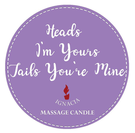 Massage Candle - Heads I'm Yours, Tails Youre Mine 135g