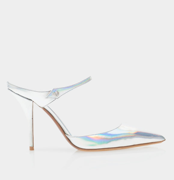 Allie Iridescent Specchio Pointed Toe Mule