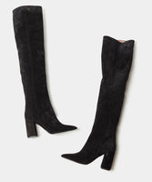 IZZY BLACK SPLIT SUEDE