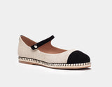 NEELY NATURAL LINEN/BLACK KIDSUEDE