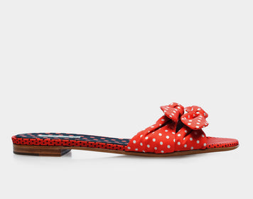 Cleo Polka Red/Black/White