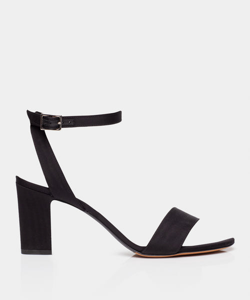 Leticia Black Moire Block Heel