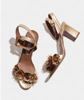 Lilian Gold Metallic Nappa