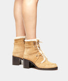 Leo Natural Shearling Lace Up Boot