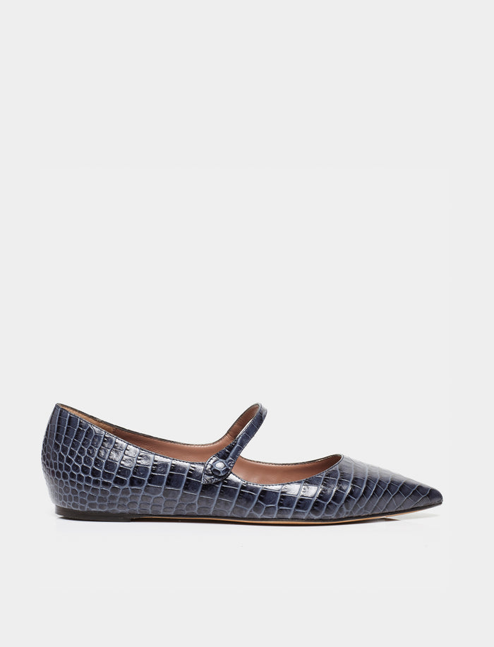 HERMIONE NAVY EMBOSSED CROCO