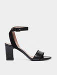 LETICIA BLACK EMBOSSED PYTHON/KIDSUEDE