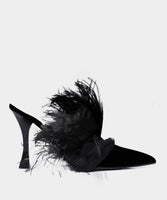 FEATHER MULE BLACK
