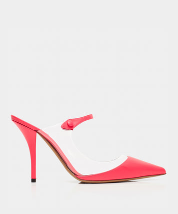 ALLIE PVC PINK FLUO CALF/CLEAR PVC