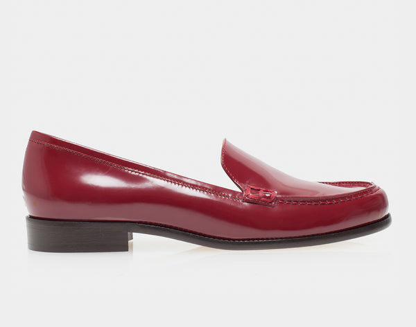 Blakie Burgundy Spazzolato Round Toe Loafer