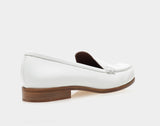 Blakie White Spazzolato Round Toe Loafer