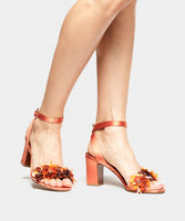Lilian Peach Satin