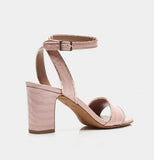 LETICIA PINK EMBOSSED CROCO/COPPER IRIDESCENT PYTHON