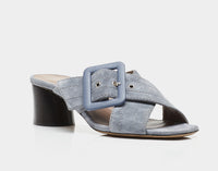 SELENA BLUE DENIM SPLITSUEDE