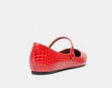 HERMIONE RED EMBOSSED CROCO