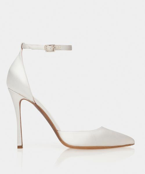 Alhambra White Satin Point Toe Pump