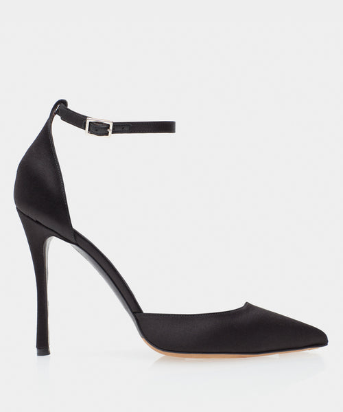 Alhambra Black Satin Point Toe Pump
