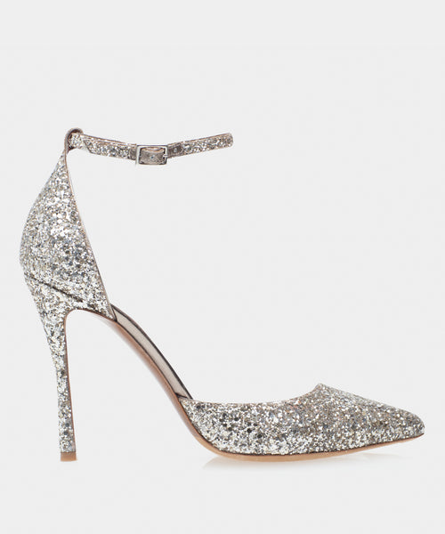 Alhambra Champagne Glitter Point Toe Pump