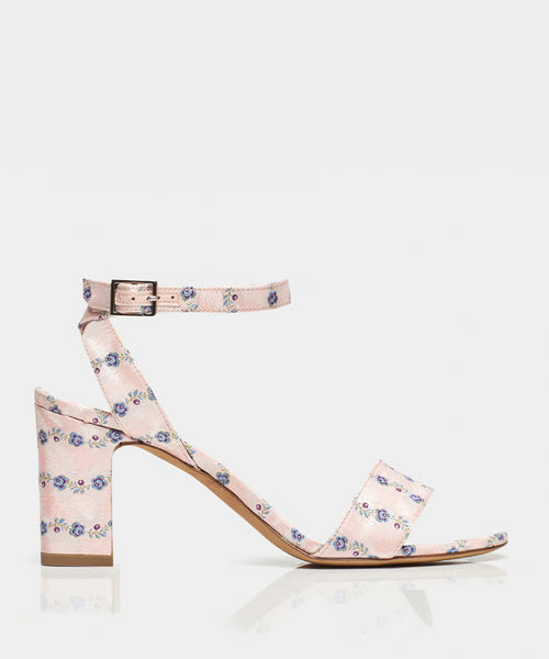 Leticia Light Pink Striped Jacquard