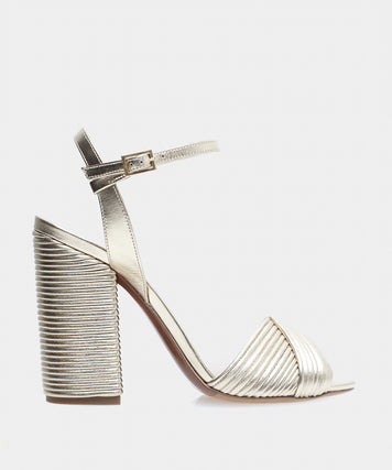 KALI CHAMPAGNE PLEATED NAPPA