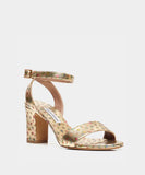 Leticia Gold Metallic Nappa