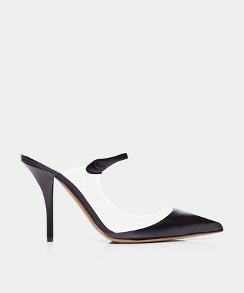 ALLIE PVC CLEAR PVC/BLACK CALF