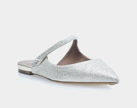 Kittie Fine Glitter Pointed Flat Mary Jane Slide