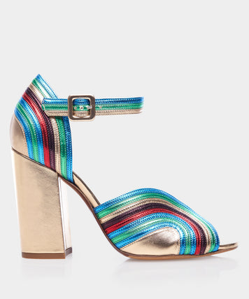 Alexis Multicolor Metallic Nappa