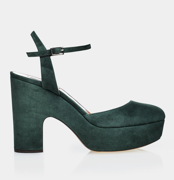 Maya Forest Green Kidsuede